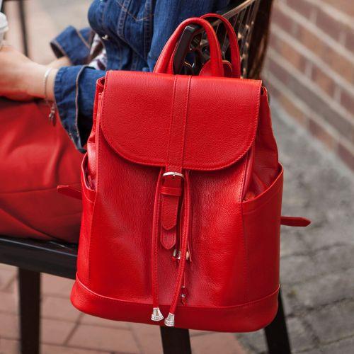 Кожаный рюкзак Олсен рубин BN-BAG-13-rubin