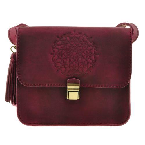 Бохо-сумка «Лилу» виноградная