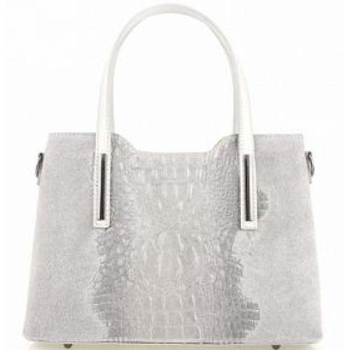 Женская кожаная сумка BC1032 серая