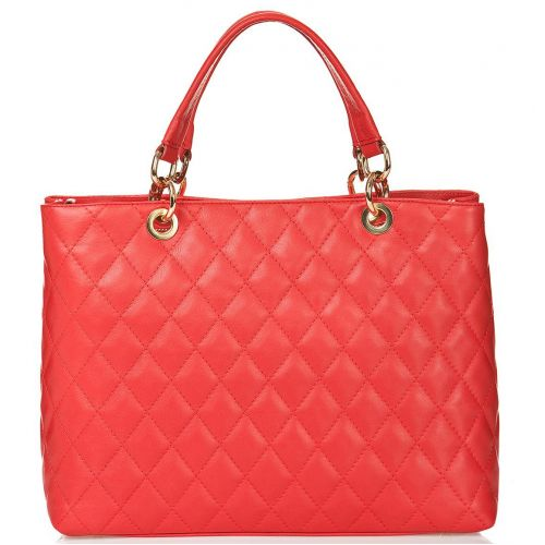 Женская кожаная сумка BC104 красная