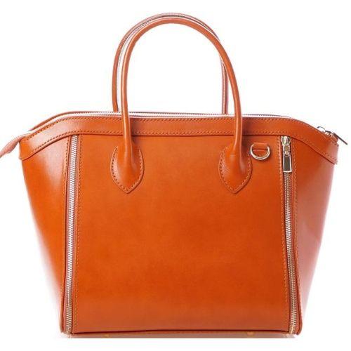 Женская кожаная сумка BC109 рыжая