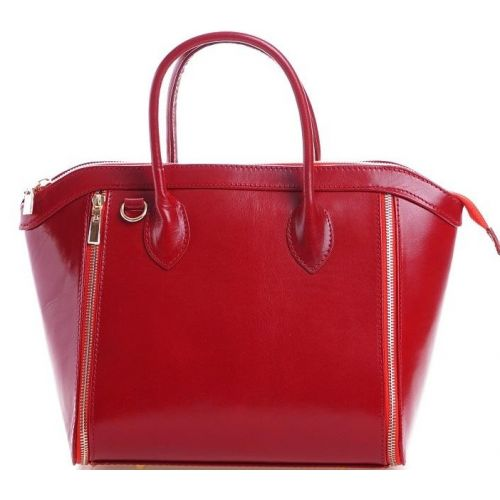 Женская кожаная сумка BC109 красная