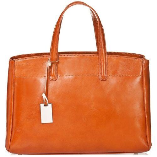 Женская кожаная сумка BC115 рыжая