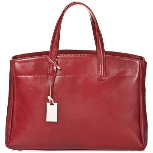Женская кожаная сумка BC115 красная