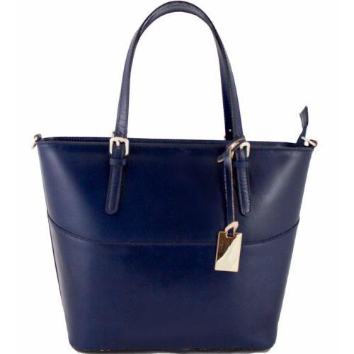 Женская кожаная сумка BC118 синяя