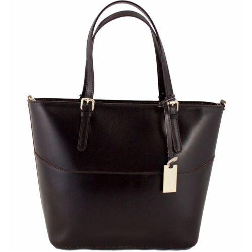 Женская кожаная сумка BC118 шоколадная