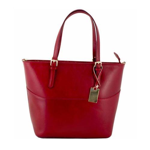 Женская кожаная сумка BC118 красная