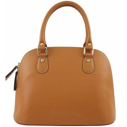 Женская кожаная сумка BC119 рыжая