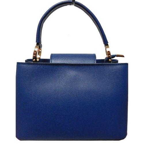 Женская кожаная сумка BC122 синяя
