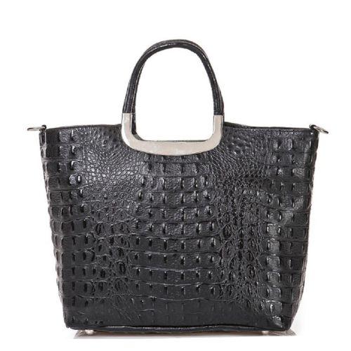 Женская кожаная сумка BC123 черная