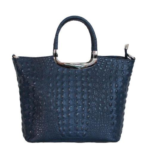 Женская кожаная сумка BC123 синяя