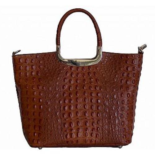 Женская кожаная сумка BC123 коричневая