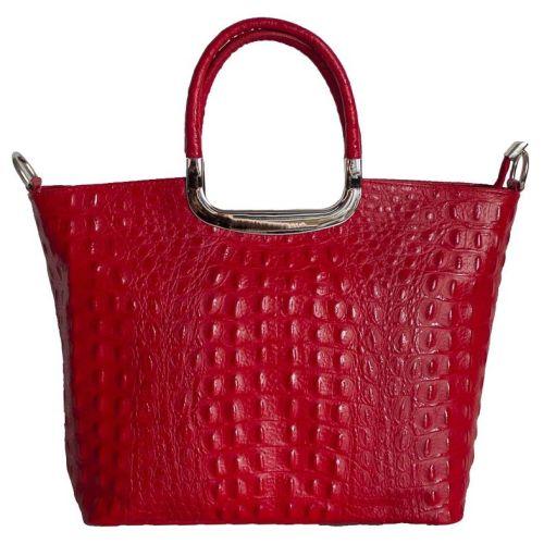 Женская кожаная сумка BC123 красная