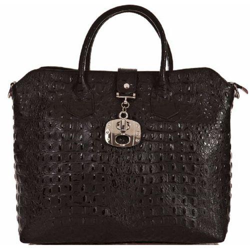 Женская кожаная сумка BC127 черная