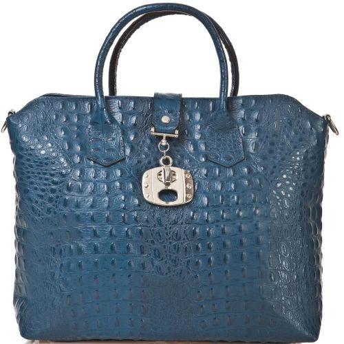 Женская кожаная сумка BC127 синяя