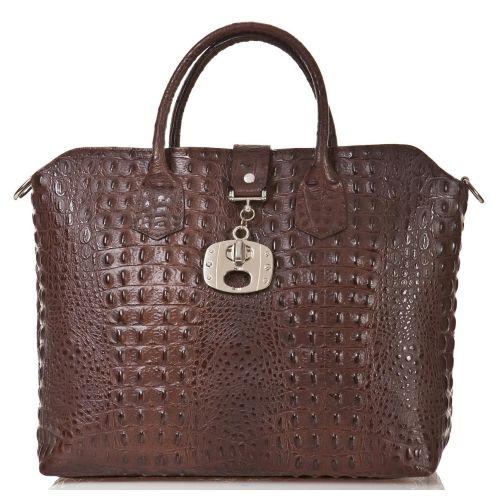 Женская кожаная сумка BC127 шоколадная