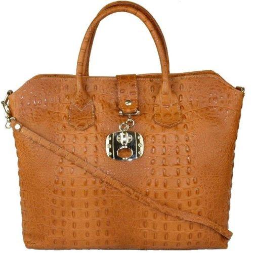 Женская кожаная сумка BC127 рыжая