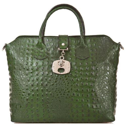 Женская кожаная сумка BC127 зеленая