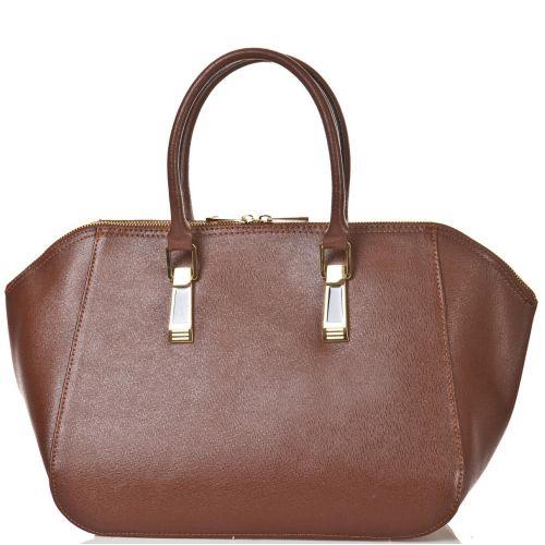 Женская кожаная сумка BC128 коричневая