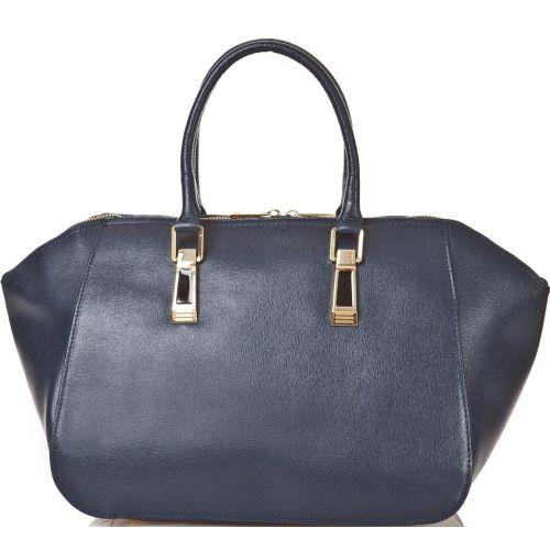 Женская кожаная сумка BC128 синяя