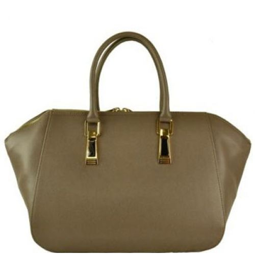 Женская кожаная сумка BC128 бежевая