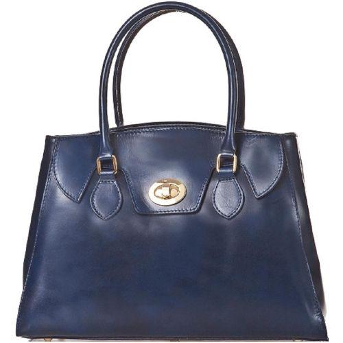 Женская кожаная сумка BC129 синяя