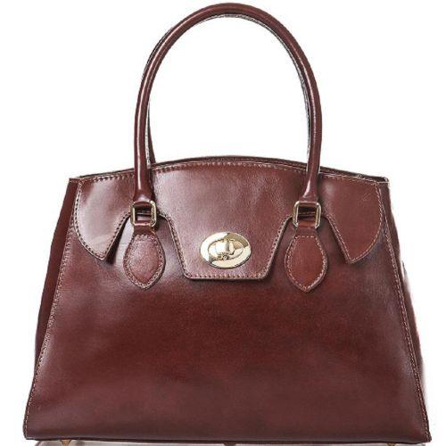 Женская кожаная сумка BC129 коричневая