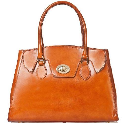 Женская кожаная сумка BC129 рыжая