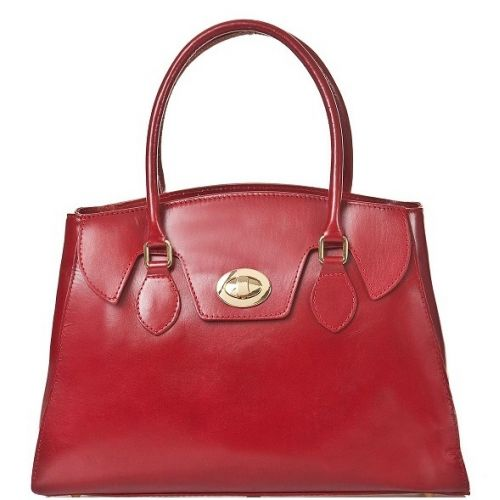 Женская кожаная сумка BC129 красная
