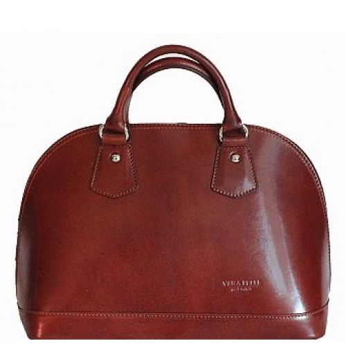 Женская кожаная сумка BC130 коричневая