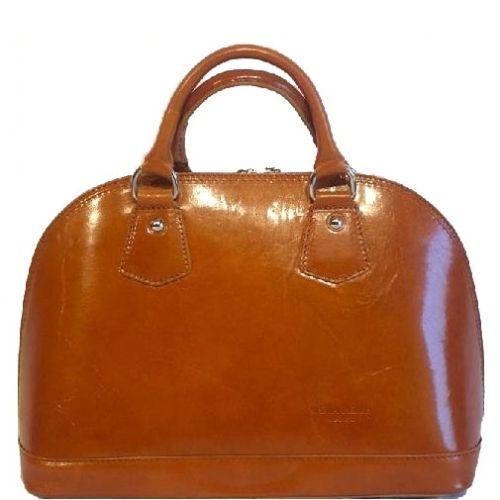 Женская кожаная сумка BC130 рыжая