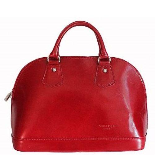 Женская кожаная сумка BC130 красная