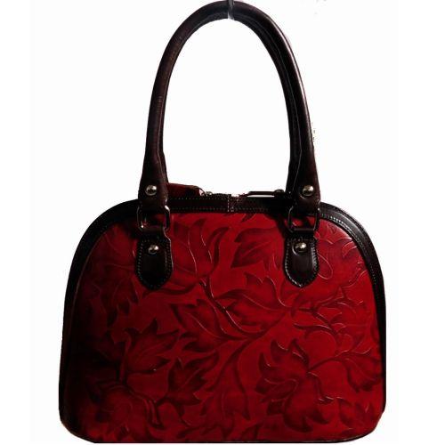 Женская кожаная сумка BC132 красная