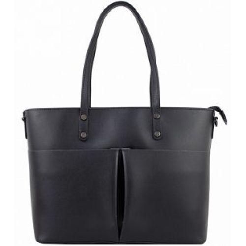 Женская кожаная сумка BC135 черная