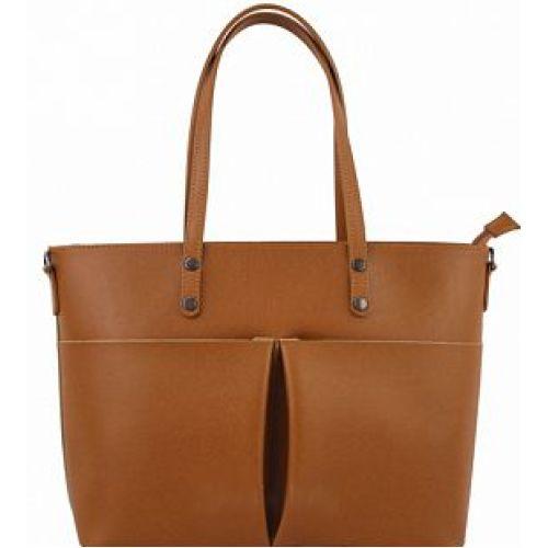 Женская кожаная сумка BC135 рыжая