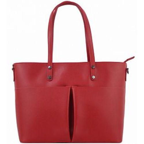 Женская кожаная сумка BC135 красная
