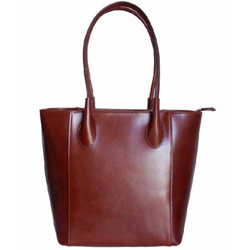 Женская кожаная сумка BC202 коричневая