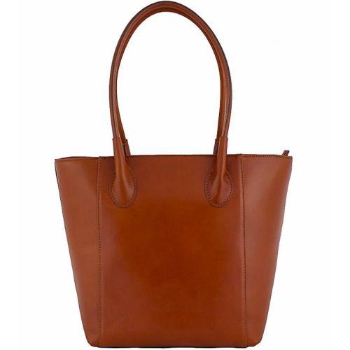 Женская кожаная сумка BC202 рыжая