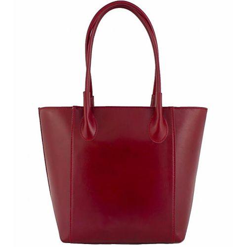 Женская кожаная сумка BC202 красная