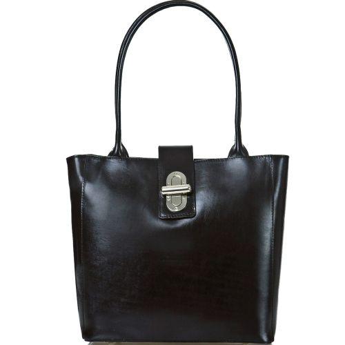 Женская кожаная сумка BC204 черная