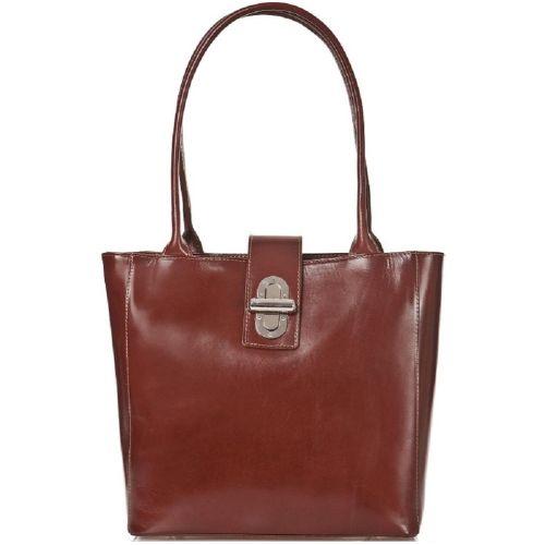 Женская кожаная сумка BC204 коричневая