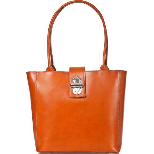 Женская кожаная сумка BC204 рыжая