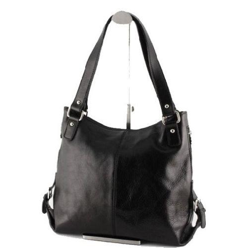 Женская кожаная сумка BC208 черная
