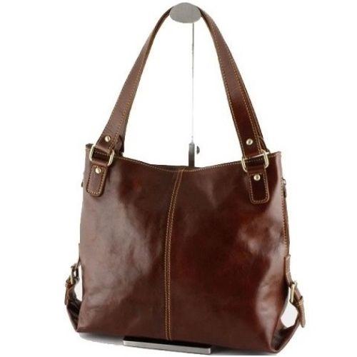 Женская кожаная сумка BC208 коричневая