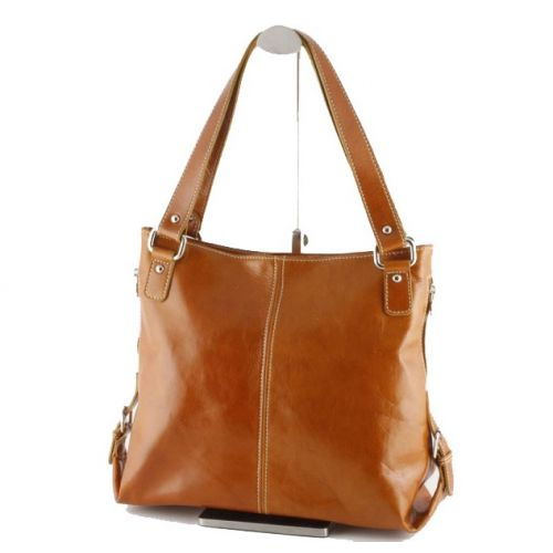 Женская кожаная сумка BC208 рыжая