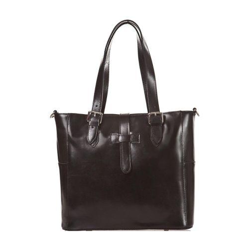 Женская кожаная сумка BC211 черная