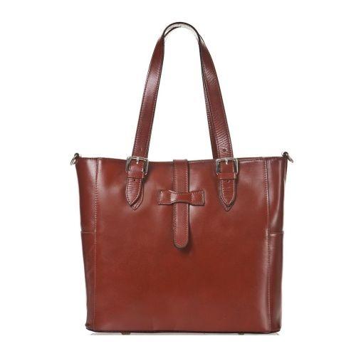 Женская кожаная сумка BC211 коричневая