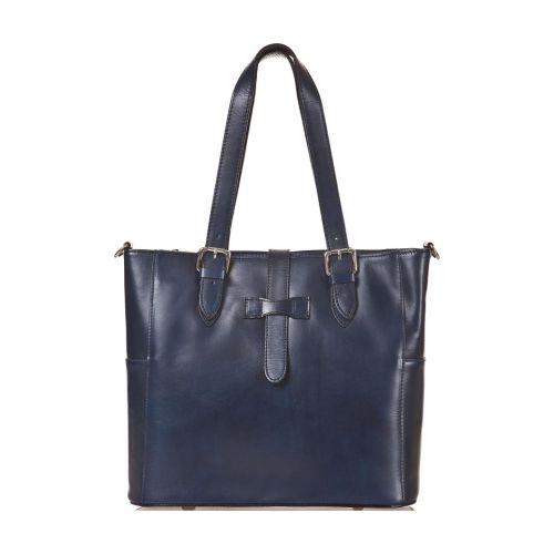 Женская кожаная сумка BC211 синяя