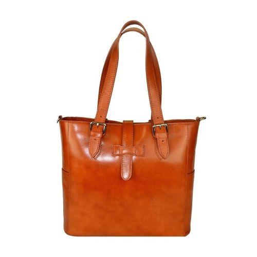 Женская кожаная сумка BC211 рыжая