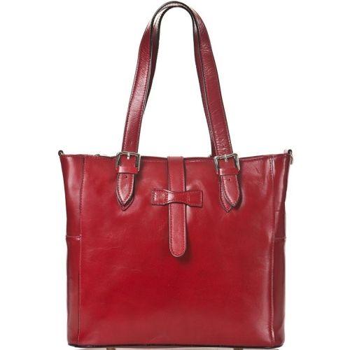 Женская кожаная сумка BC211 красная